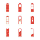 Battery icons set Royalty Free Stock Images