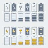 Battery icons set royalty free illustration