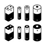 Battery Icons Set Stock Photos
