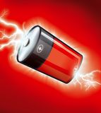 Battery illustration. High quality  illustration of a battery Royalty Free Stock Photos