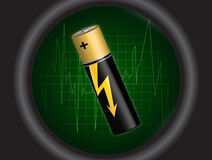 Battery Illustration Royalty Free Stock Images