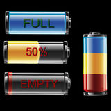 Battery Indicator Royalty Free Stock Images