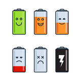 Battery indicator icons Royalty Free Stock Photo