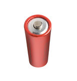 Battery isolated. Stock Image