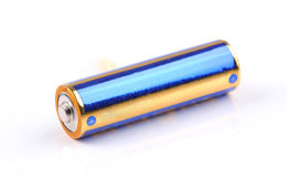 Battery isolated on white Royalty Free Stock Images