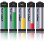 Battery level Stock Images