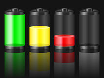 Battery level black Royalty Free Stock Photo