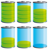 Battery level icons Stock Photography