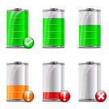 Battery level icons Royalty Free Stock Images