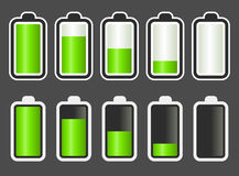 Battery Level indicator stock illustration