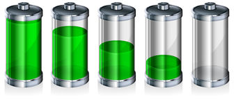 Battery with level indicator Stock Photo