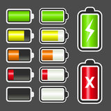 Battery Level Indicator Kit Royalty Free Stock Photos