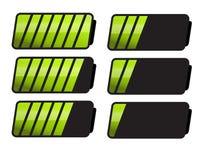 Battery Level Indicator Symbols Royalty Free Stock Image