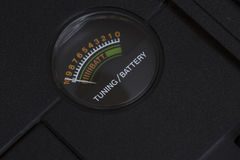 Battery level indicator. Royalty Free Stock Photo