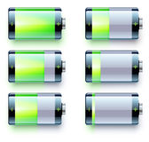 Battery level indicators Royalty Free Stock Photo