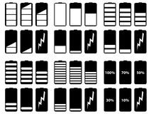 Battery levels vector Stock Images