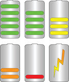 Battery levels vector Stock Photos