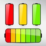 Battery Life Icon Set Stock Photo