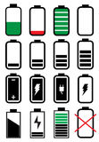 Battery life icons set Stock Image