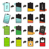 Battery Life Vector Icons Set Stock Photography