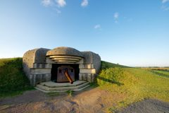 Battery of Longues sur Mer. Normandy, France royalty free stock images