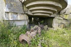 Battery of Longues sur Mer Stock Photography