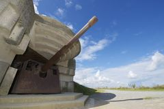 Battery of Longues sur Mer. Normandy, France Royalty Free Stock Photography