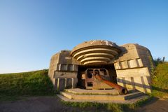 Battery of Longues sur Mer Royalty Free Stock Images