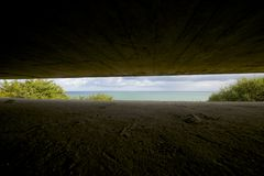 Battery of Longues sur Mer Royalty Free Stock Photo