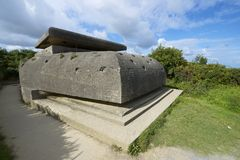 Battery of Longues sur Mer Stock Images