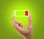 Battery low icon Royalty Free Stock Photos