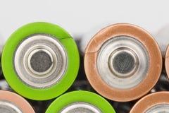 Battery. Lying AA Batteries - Stock Image macro Royalty Free Stock Photo