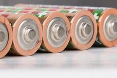 Battery. Lying AA Batteries - Stock Image macro Royalty Free Stock Image
