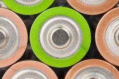 Battery. Lying AA Batteries - Stock Image macro Stock Image