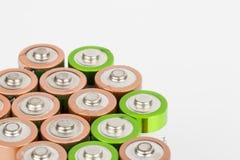 Battery. Lying AA Batteries - Stock Image macro Stock Images