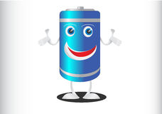 Battery Mascot Professional Look Stock Photography