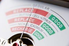 Battery Meter Reading Bad Battery Stock Image
