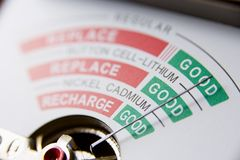 Battery Meter Reading Bad Battery Royalty Free Stock Photography