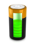 A battery model Royalty Free Stock Images