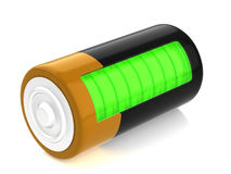 A battery model. With semitransparent glassy side Stock Photos