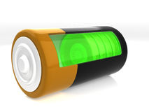 A battery model. With semitransparent glassy side Stock Photography