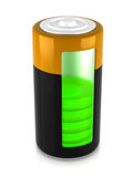 A battery model Royalty Free Stock Photo
