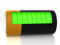 A battery model Stock Images