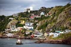The Battery neighborhood in St. John's Newfoundland. The historic and colorful Battery neighborhood in St. John's, Newfoundland, Canada stock photos