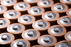 Battery pack, top view Royalty Free Stock Images