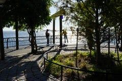Battery Park City Esplanade 15 Stock Image