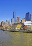 Battery Park City in New York Harbor in Lower Manhattan Stock Image
