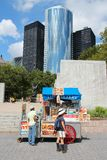 Battery Park food stand Royalty Free Stock Images