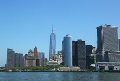 Battery Park and Freedom Tower Royalty Free Stock Photos