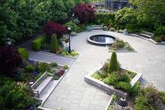 Battery park garden. In new york city stock photo
